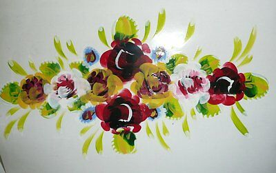 Hand Painted Roses Transfer Interior Exterior Barge Canal Narrow Boat Ware 9-4