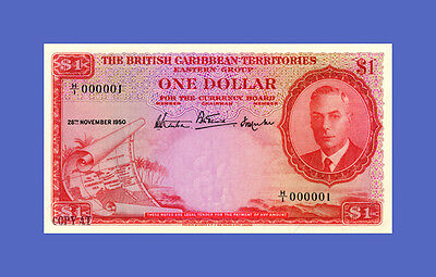 BRITISH CARIBBEAN - 1 Dollar 1950s -Reproductions - See description!!!