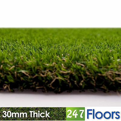 Artificial Grass, Quality Astro Turf, Cheap, Realistic Garden Green 30mm Thick