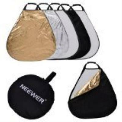 Neewer 5 In 1 Portable Triangle 24Inch/60Cm Multi Camera Lighting Reflector/Diff
