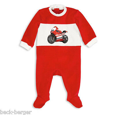 DUCATI CORSE ´12 Baby Pyjama Romper Sleepsuit Nicki Red White NEW