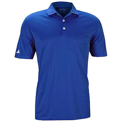 Adidas Mens Performance Polo Shirt Blue - New Golf Short Sleeve Tour Top 2016