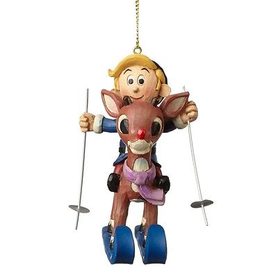 Rudolph And Hermey Skiing Ornament