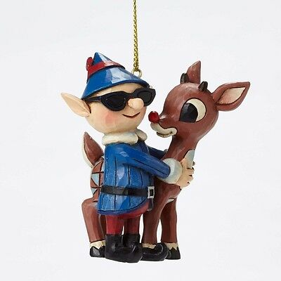 Rudolph With Elf Ornament