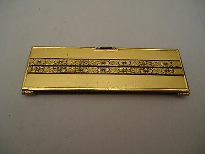 Vintage Antique Bliss Brothers Co UNUSUAL RARE Comb Folding Mirror Compact