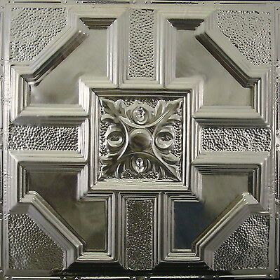 #113 Tin Ceiling Tile, Nailup, Unfinished, Authentic Antique Metal Ceiling Tile
