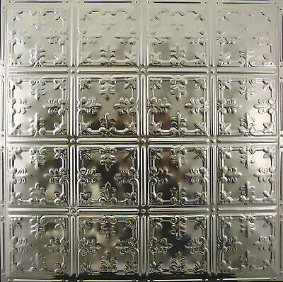 #121 Tin Ceiling Tile, Nailup, Unfinished, Authentic Antique Metal Ceiling Tile