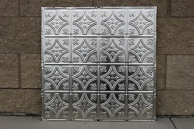 #103 Tin Ceiling Tile, Drop-In, Unfinished, 5 pcs per box.  Real Metal