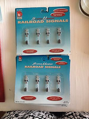 Ho Scale Life-Like Trains Scene Master Railroad Signals Four Part No 1253