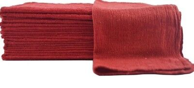50 New Red Mechanics Rag Shop Rags Towels Red Large 13X14 Usa-Tex 100% Cotton
