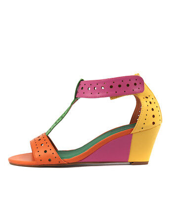 New I Love Billy Blanche Bright Multi Womens Shoes Casual Sandals Heeled