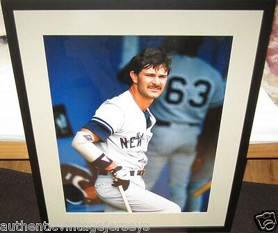 Don Mattingly signed auto Yankees 16x20 poster size photo matted framed PSA/DNA