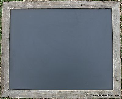18x24 Rustic Reclaimed Barn Wood Framed Barnwood Chalk Chalkboard Black Board