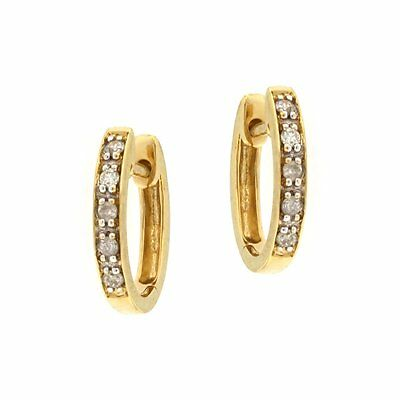 Estate Huggie Earrings with .05CTW of Diamonds 14kt Yellow Gold