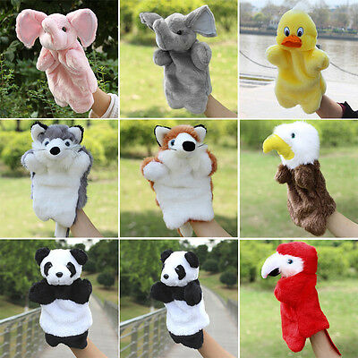 Kids Cartoon Animal Finger Puppets Plush Cloth Doll Baby Developmental Hand Toy