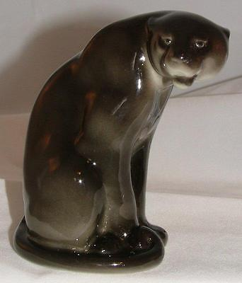 Russian Porcelain Animal Fiure Black Panther