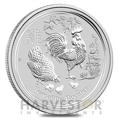 2017 Lunar Year Of The Rooster - Silver Bullion 1 Oz. Coin - Perth  Mint Silver