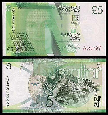 Gibraltar 5 Pounds Sterling  1-1-2011  Pick 35   SC = UNC