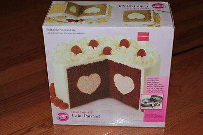 NEW WILTON TASTY HEART FANCY FILL Cake Tin Baking Pan Comes with  instructions