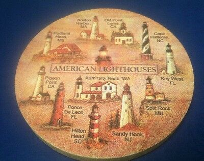 Thirstystone American Lighthouses Coaster Set of 4 NEW