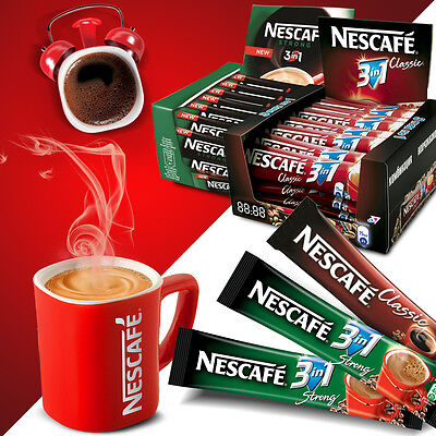 60 x Nescafé 3 in1 Stix Portionssticks Kaffee, 2in1 Original Strong  Großhandel