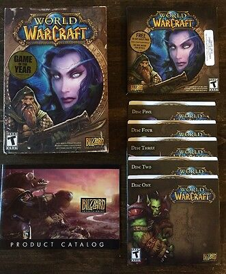 World of Warcraft (PC Windows/Mac, 2004) Complete CD-ROM Computer Game