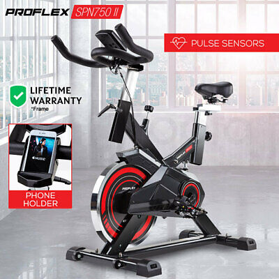 NEW PROFLEX Spin Bike - Flywheel Commercial Gym Exercise Home Workout Red