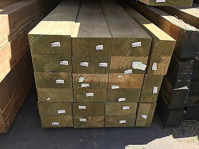 Treated Pine H4 150x75 Posts 3.6m lengths only Decking Fence Bearer Joists Post