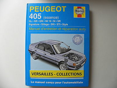revue technique automobile RTA manuel HAYNES PEUGEOT 405 essence