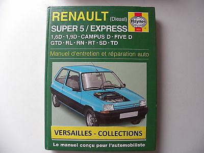 revue technique automobile RTA manuel HAYNES RENAULT super 5 / express diesel