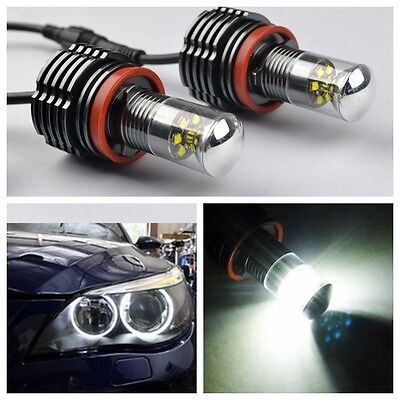 H8 60W CREE LED Licht  Angel Eyes BMW E92 E93 E90 E91 E70 E60 E81 E82 E87  Weiß