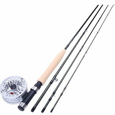 Fishing Fly Rod & Reel Combos 5WT 2.6m/8'6'' 5/6WT Aluminum Fly Reel For Starter