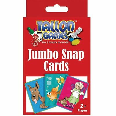 Jumbo Snap Playing Cards Children Educational & Fun Toy Game / Family Games New
