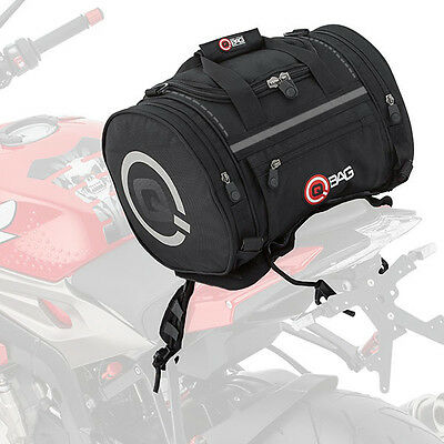QBag Motorbike Motorcycle 5 Litre Small Touring Travel Tail Bag 4 - Black