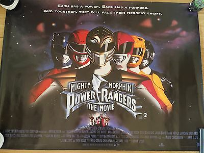Mighty Morphin Power Rangers The Movie 1995Original Full Size Cinema Quad Poster