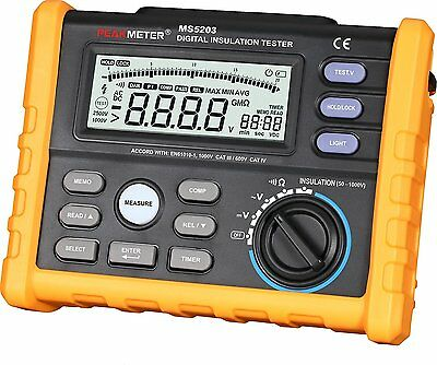 PEAKMETER MS5203 Digital Insulation ResistanceTester Multimeter Megohm Meter
