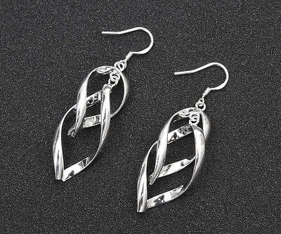 Wholesale 925 Silver Plated fashion jewelry solid silver women earring gift #4