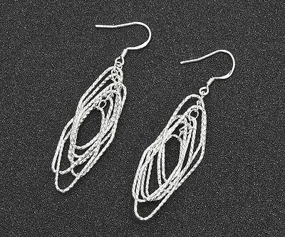 Wholesale 925 Silver Plated fashion jewelry solid silver women earring gift #7
