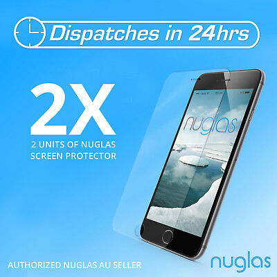 2x GENUINE NUGLAS Tempered Glass Screen Protector for apple iphone 6 6s Lot