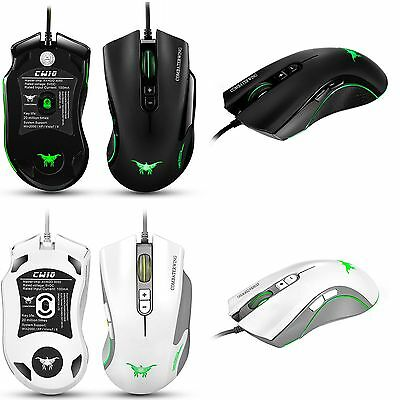 7 Buttons 4800DPI Adjustable Wired Gaming Mouse & 6 Breathing LEDs for PC CW-10