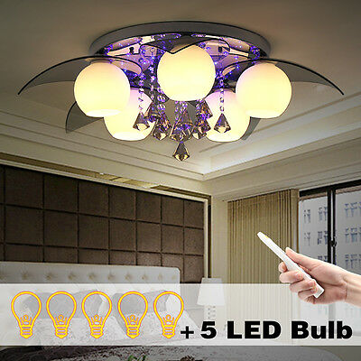 Crystal LED Ceiling Light  Warmwhite Modern Chandelier RGB Lamp for Living Room