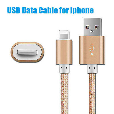 1m 2m Extra Long Sync & Charger USB Data Cable For iPhone 7 6S Plus 5S iPad Air