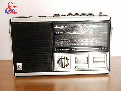 Vintage Portable Radio Grundig Music Boy 1100. Full Works. Made In Germany.