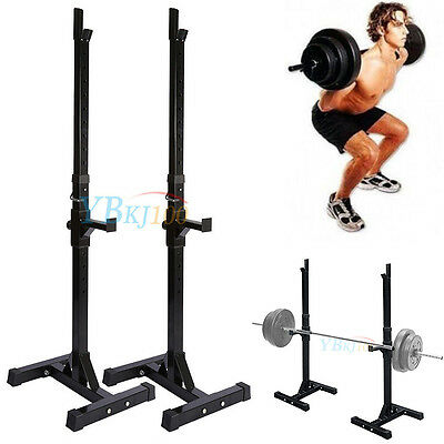 Fully Adjustable Squat & Dip Rack Gym Weight Barbell Stand Lifting Power Frame