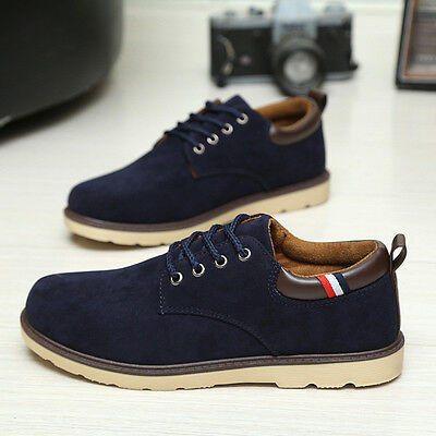 2016 Fashion Men's Suede Leather Shoes European Style Oxfords Casual Sneakers