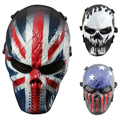 Airsoft Skull Full Face Protective Mask Military Protection Paintball Halloween