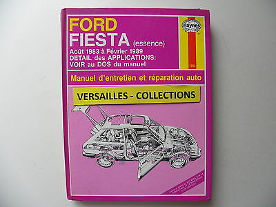 revue technique automobile RTA manuel HAYNES FORD FIESTA essence