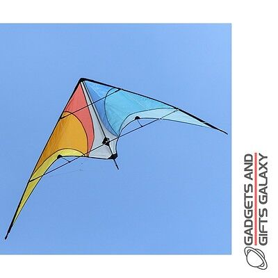 LARGE WINGSPAN STUNT KITE 160cm WIDE FOLDS FOR STORAGE toy gift summer garden