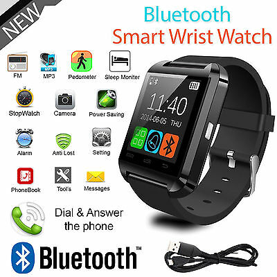 BLUETOOTH SMART WATCH PEDOMETER Sports Watch for IOS Android Samsung Iphone HTC