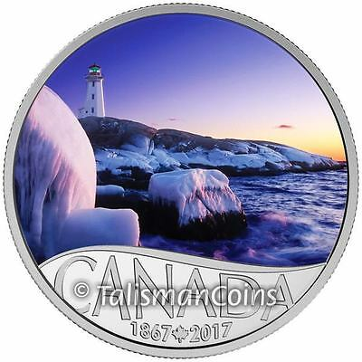2017 Celebrating Canada's 150th #3 Peggy's Cove Lighthouse $10 Pure Silver Proof